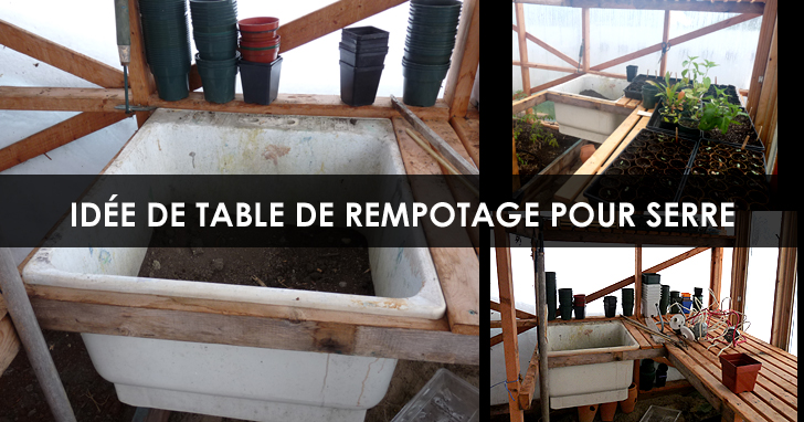 Table de rempotage